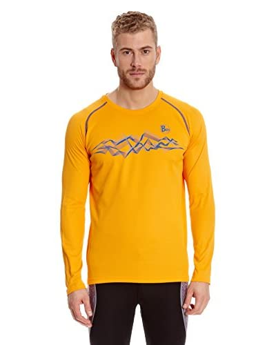 Buff T-Shirt Long Sleeve Sawteeth [Arancione]