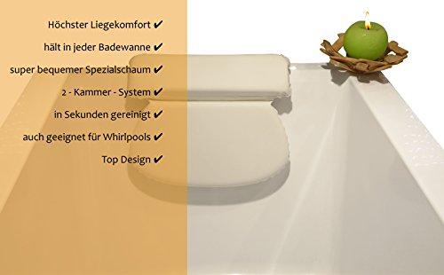 ZenHome Badewannenkissen - Optimales Nackenkissen / Wannenkissen - Komfort Badekissen -