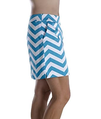Haute Shot Golf ladies golf skort, On The Dance Floor chevron print by Haute Shot Golf