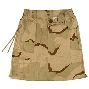Knee Length Desert Camouflage Pattern Skirt