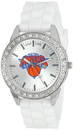 Game Time Ladies NBA-FRO-NY Frost NBA Series New York Knicks 3-Hand Analog Watch by Game Time
