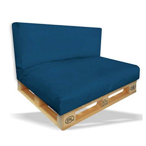 Palettenkissen-2er-Set-Sitzpolster-120x80x15cm-Rckenkissen-120x40x10cm-Farbe-MarineBlau-In-Outdoor-Palettenpolster-Paletten-Rattanmbel-Polster