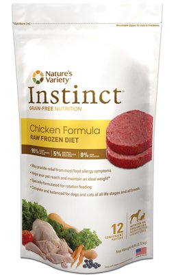 Instinct Raw Frozen Diet Beef Patties 6lb