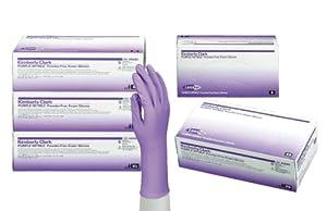 Kimberly-Clark 55082 Model KC500 Nitrile-Xtra Powder Free Exam Gloves, Disposable, Medium, Purple (Box of 100)