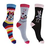 Disney Minnie Mouse Ladies/Womens Socks (Pack Of 3)
