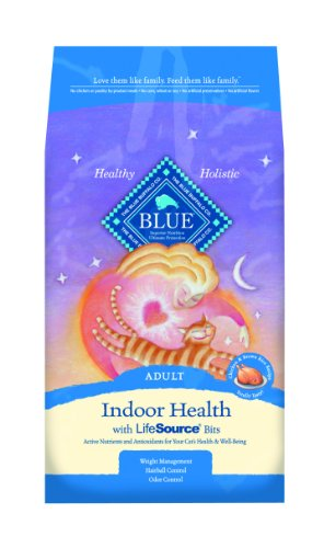 Blue Buffalo Indoor Cat Dry Food, Chicken and Brown Rice Recipe, 15-Pound Bag