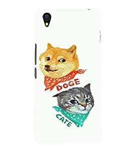 EPICCASE Doge and Cate Mobile Back Case Cover For OnePlus X (Designer Case)