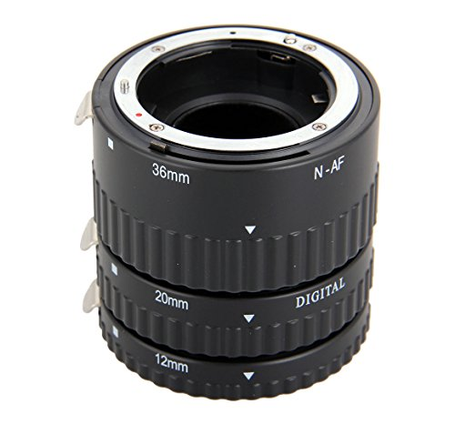 Meike MK-N-AF1-B Auto Focus Macro Extension Tube Ring Plastic for Nikon D800 D90 D3200 D5000 D5100 D5200 D7000 D7100 Camera DSLR (Rings Auto compare prices)