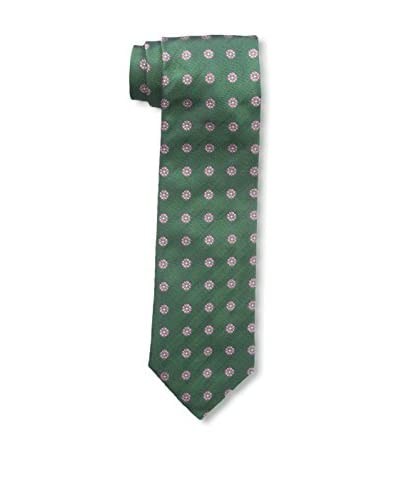 Ermenegildo Zegna Men's Flower Tie, Green