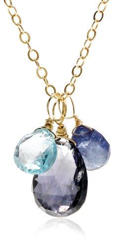 14k Yellow Gold Multi-Gemstone Necklace