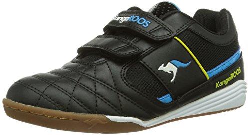 Kangaroos Kangacourt 3011, Unisex-Baby Hi-Top Sneakers, Black (Black/Blue 544), 9 UK
