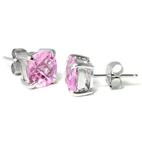 Rose Earrings Amazon Rose Quartz Stud Earrings