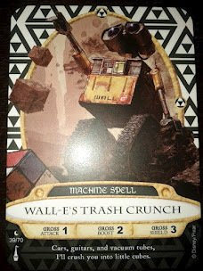 Sorcerers Mask of the Magic Kingdom Game, Walt Disney World - Card #39 - Wall-e's Trash Crunch - 1