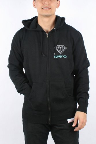 Diamond Supply - Mens Supply Co. Hoodie in Black, Size: XXX-Large, Color: Black