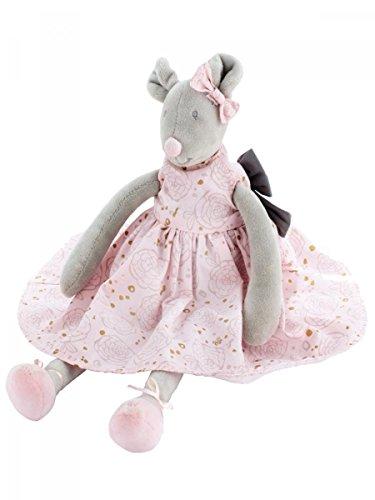 Tartine e cioccolato-Peluche Eugenie Mouse in velluto 35cm rosa bambino ragazza Tartine e cioccolato