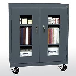 Transport 2 Door Storage Cabinet Color: Charcoal