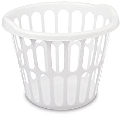 Howards Sterilite Plastic Laundry Basket Multipurpose Storage Round White 35 Litre