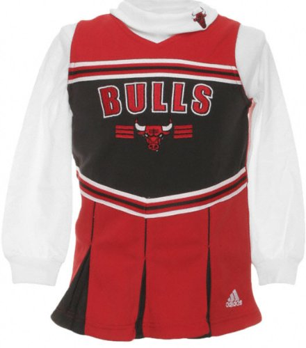 Chicago Bulls Girl's (4-6X) Cheerleader Jumper at Amazon.com