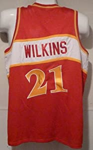 Dominque Wilkins Autographed Red Size XL Jersey Atlanta Hawks by DenverAutographs