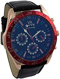 Addic EWWE Stylish Blue Tachymeter And Gold Case With Black Strap And Dark Blue Sports Dial For Men (53)