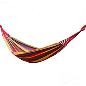 Topone(TM)Portable Parachute Nylon Fabric Travel Camping Hammock from Topone