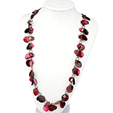 buy Btime Women Multiple Red Chocolate Petals Necklace