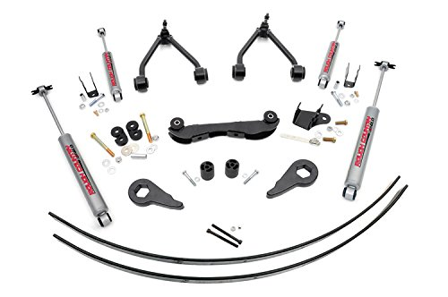 Rough Country - 170.20 - 2-3-inch Suspension Lift Kit (Rear Add-A-Leafs) w/ Premium N2.0 Shocks (Rough Country Lift Kit Yukon compare prices)
