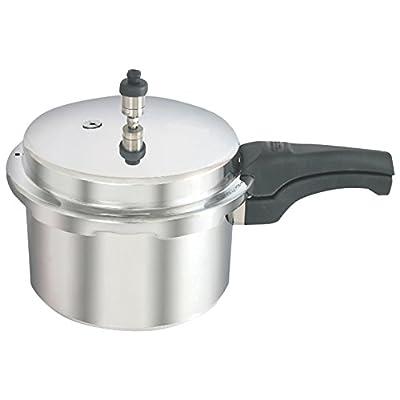 Kaviraj Aluminum Pressure Cooker, 5.5 Litres, Silver