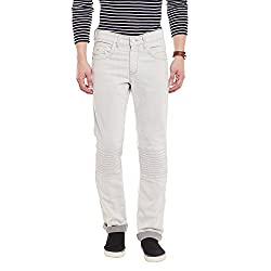 Canary London Off White Latest Fashion Men's Casual Jeans(Size-32)