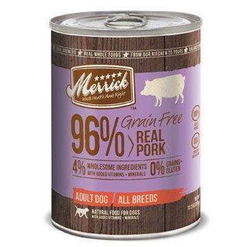 Merrick Grain Free 96% Real Pork Canned Dog Food, Case Of 12