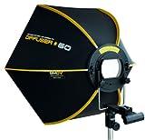 SMDV DIFF60 Speedbox Diffuser-60 - Professional 23-Inch Rigid Quick Folding Hexagonal Softbox for Speedlight Flash (Black)