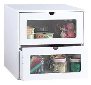 Amazon Com Jetmax Simply Built Craft Storage 2 Drawer