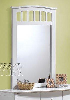 White Bedroom Vanity With Mirror front-68756