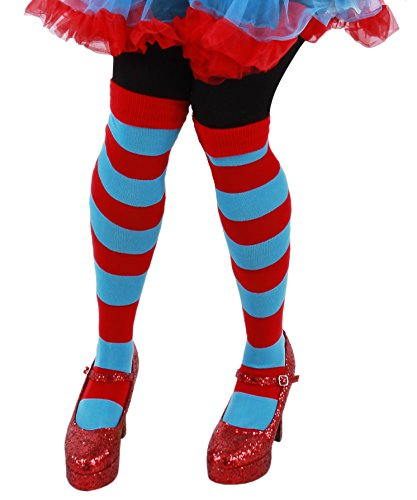 elope Dr Seuss Thing 1 & 2 Striped Knee High Socks