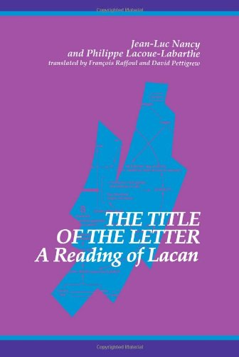 The Title Of The Letter: A Reading Of Lacan (Suny Series In Contemporary Continental Philosophy) front-830499