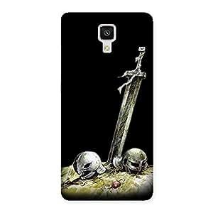 Warrior Sword Back Case Cover for Xiaomi Mi 4