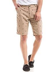 Shuffle Men's Cotton Shorts (8907423003125_2021516601_30_Khaki)
