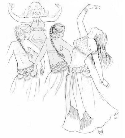 Inalam's Halter Bras and Tie Girdle Pattern (Belly Dance)