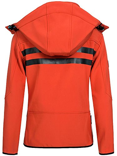 Geographical Norway Damen Softshelljacke Romantic flashy coral/blue S -