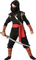InCharacter Costumes Boys 8-20 Ninja Hoody Costume Black, 8