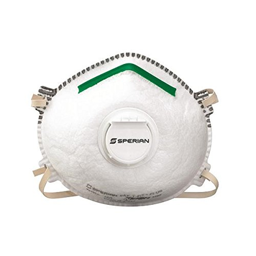 North 14110394 by Honeywell Medium - Large N95 SAF-T-FIT Plus Standard Disposable Particulate Respirator With Exhalation Valve, Green Nose Bridge And Foam Nose Seal - Meets NIOSH Standards (20 Each Per Box) (20/EA)