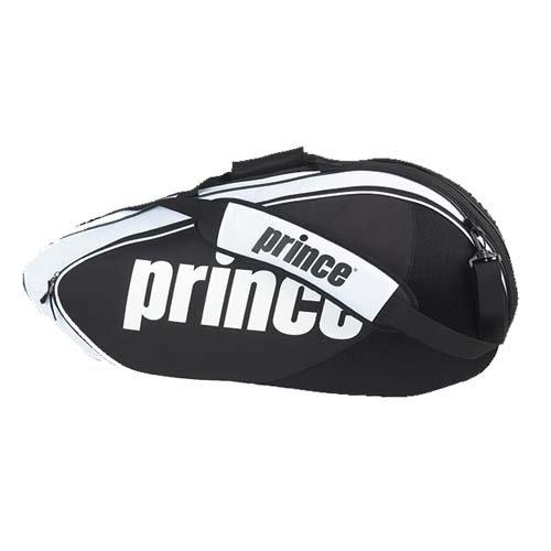 Prince Volley 6 Pack Tennis Bag Black White