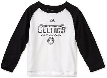 NBA Toddler Boston Celtics Long Sleeve Raglan Crew - R2492Xce (White, 2T)