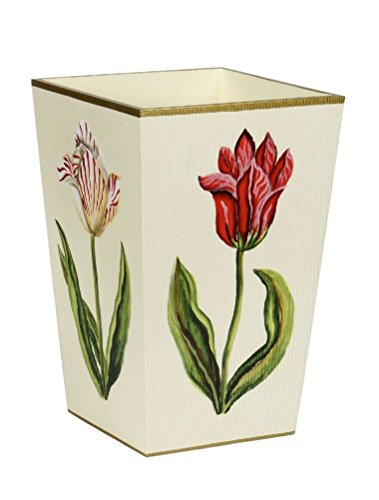 Mememall Fashion Trash Can Garbage Can Bathroom Accessories Sets Pink Floral Bathroom Decor (Zebra Print Garbage Can compare prices)