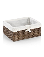Dark Weave Lined Basket