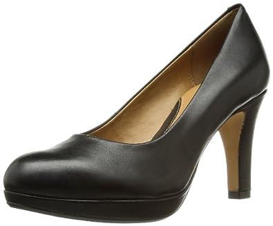 Clarks Anika Kendra 203543674 Damen Pumps, Schwarz (Black Leather), EU 35