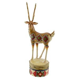 Jim Shore Heartwood Creek from Enesco Lodge Reindeer Figurine 9.75 IN