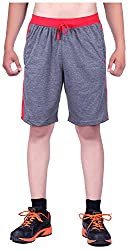 DFH Men's Cotton Shorts (MNDG2, Dark Grey, 34)