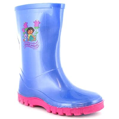 Girls Dora The Explorer Wellington Boots - Lilac - UK 4-12