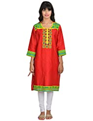 Goodyygoods Women's Cotton Regular Fit Kurti (GG 39)